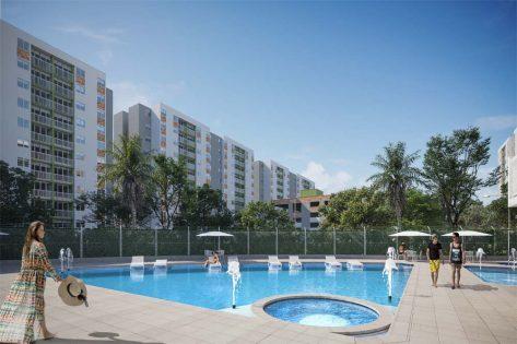 proyectos vis en bucaramanga render piscina iudadela verde