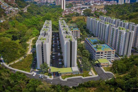 proyectos vis en bucaramanga render vista aerea ciudadela verde
