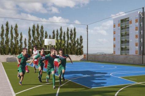 proyectos vis en bucaramanga render cancha de futbol ciudadela verde