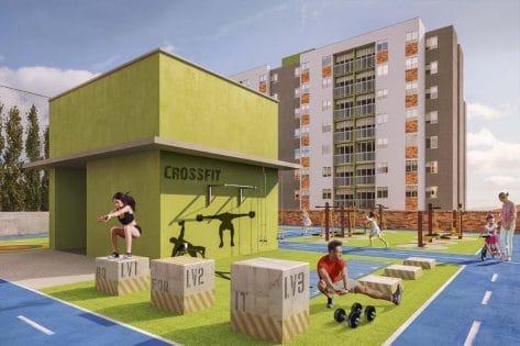 proyectos vis en bucaramanga render ecogym ciudadela verde