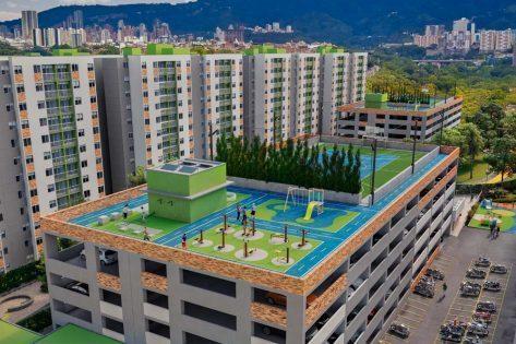 proyectos vis en bucaramanga render canchas multiples ciudadela verde
